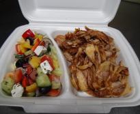 Görög Salátás Húsos tál